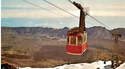 Tenerife Connect kabelbaan teleférico 1971 Teide bouw constructie