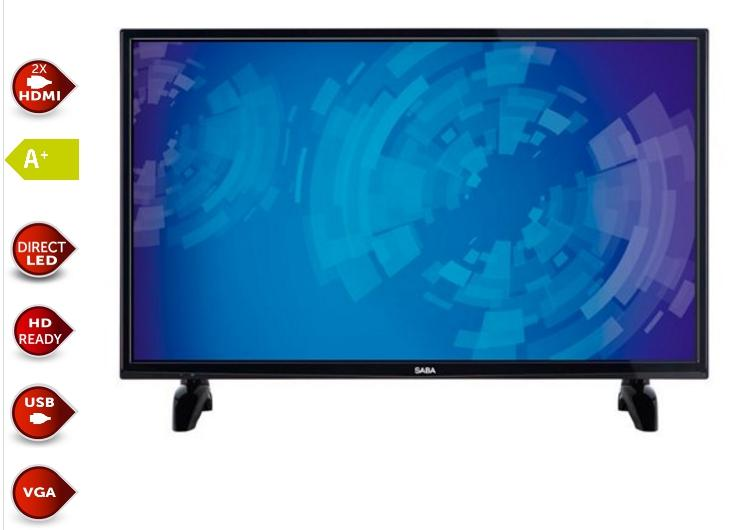 "Saba flat screen TV van 40"""