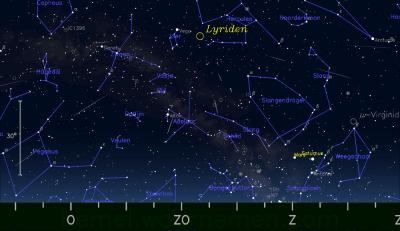 Tenerife-Connect meteoren vallende-sterren Lyriden astrologie radiant atmosfeer