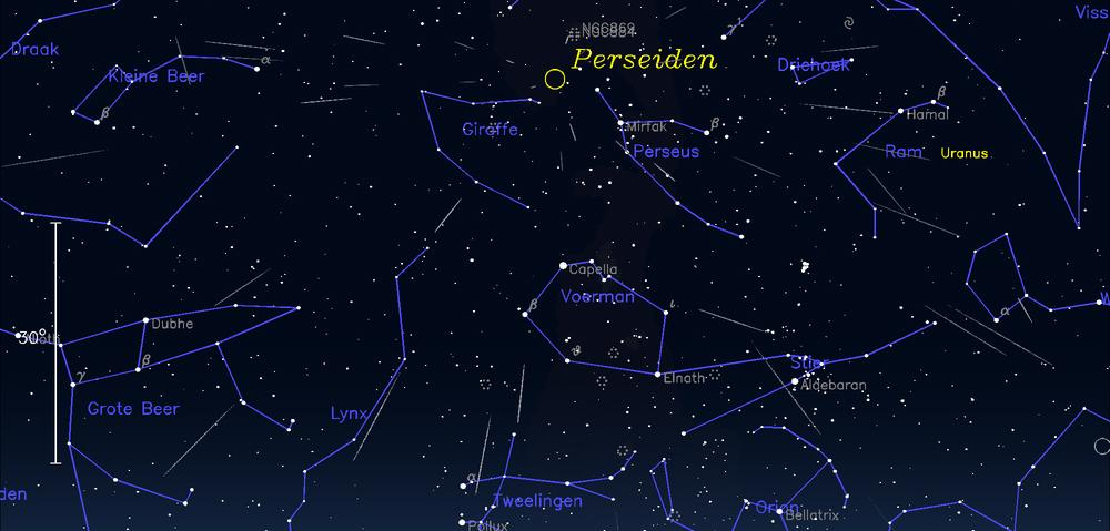 Tenerife-Connect meteoor meteoren perseïden vallende sterren