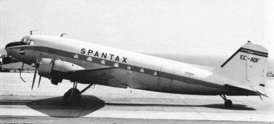 Tenerife-Connect 1966 crash El-Sauzal helden vissers vliegtuig Spantax dc3