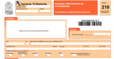 Tenerife-Connect 210 modelo belasting, grondbelasting IBI kadastraal model niet-residenten