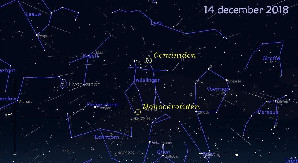 Tenerife-Connect Geminiden 2018 meteorieten vallende-sterren