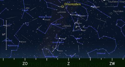 Tenerife-Connect astrologie atmosfeer orioniden meteoren radiant vallende sterren