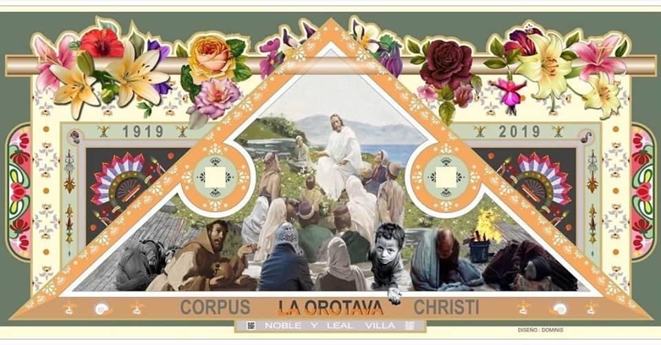 Tenerife-Connect zand tapijt traditie bloemen bloemen cultuur La-Orotava processie stoet