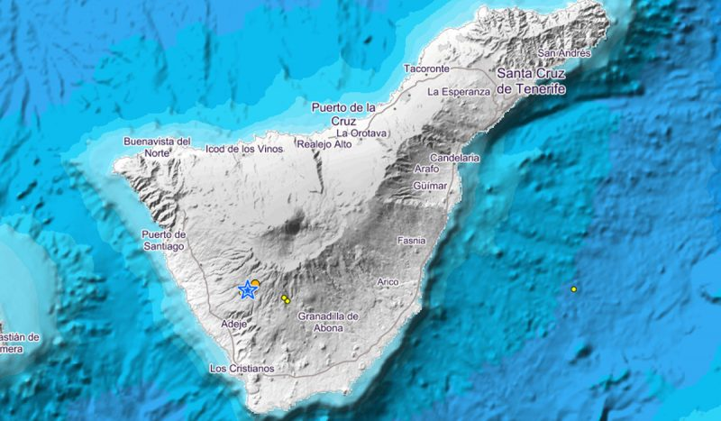 Tenerife-Connect aardbeving trilling INVOLCAN seismologie geografie ING cluster