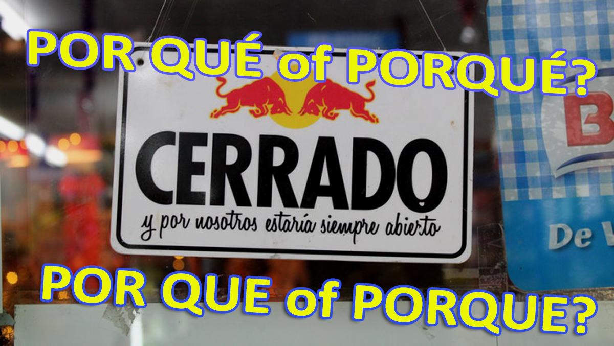 Tenerife-Connect Spaans Por-qué porqué porque por qué