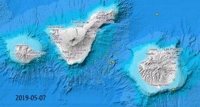 Tenerife-Connect aardbeving cluster vulkaan Richter seismiciteit